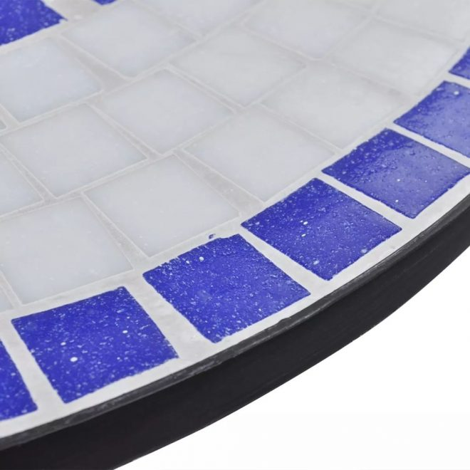 Bistro Table Blue and White 60 cm Mosaic 4