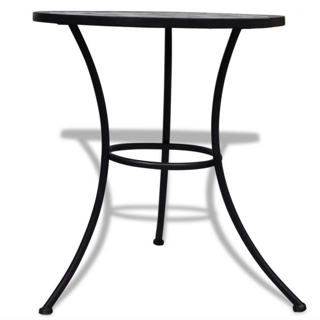 Bistro Table Black and White 60 cm Mosaic 3