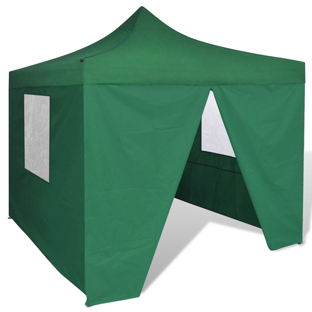 Foldable Tent 3×3 m with 4 Walls Green 1