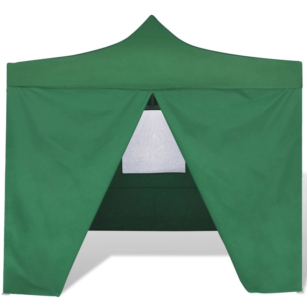 Foldable Tent 3×3 m with 4 Walls Green 2