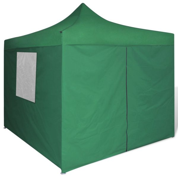 Foldable Tent 3×3 m with 4 Walls Green 3