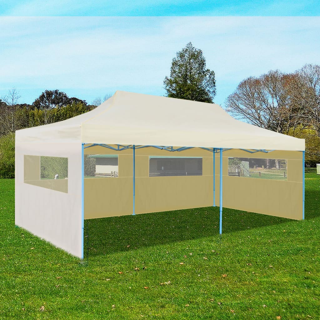 Cream Foldable Pop-up Party Tent 3 x 6 m 1
