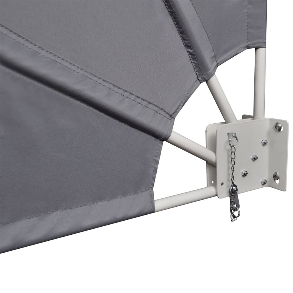 Collapsible Balcony Side Awning Grey 210×210 cm 6