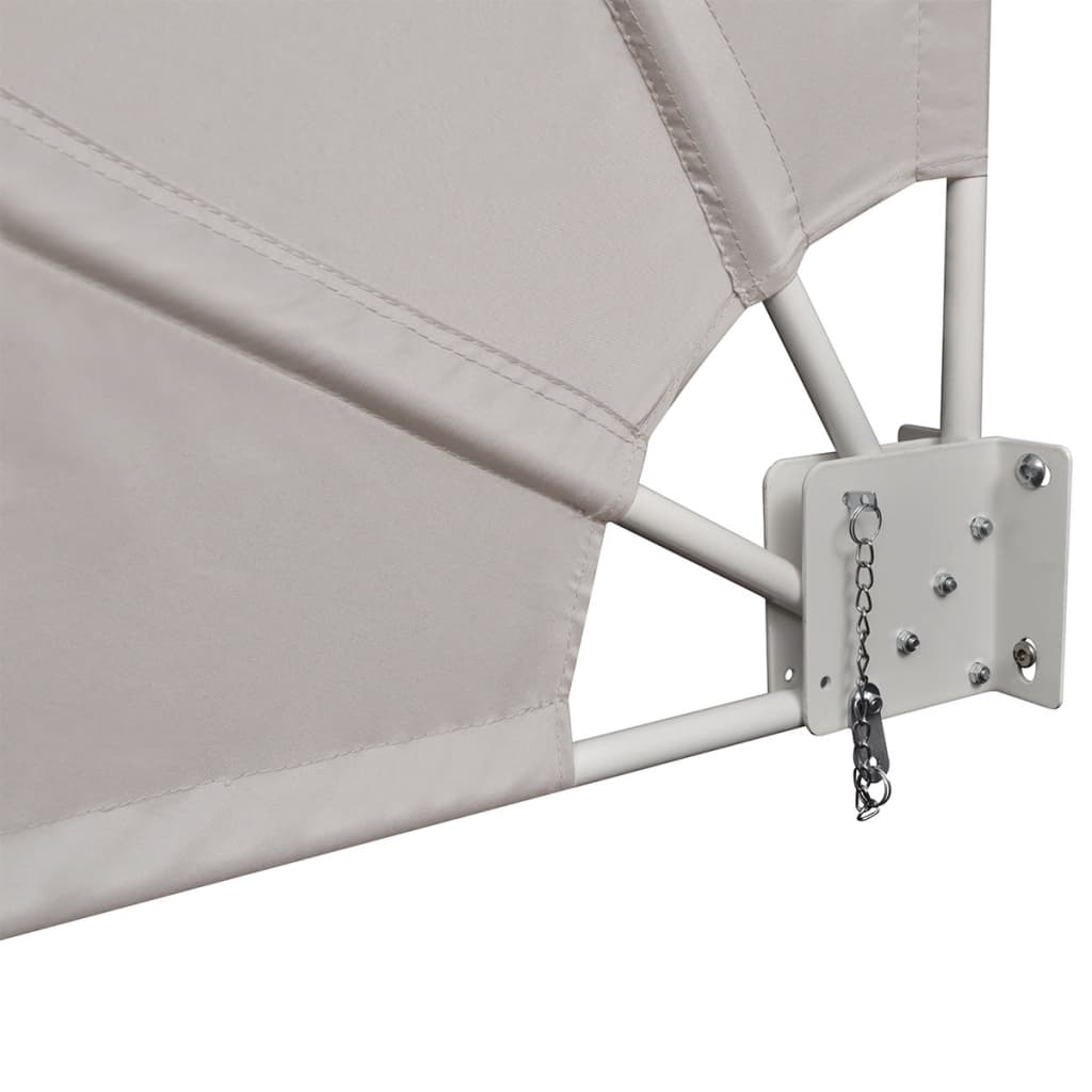 Collapsible Balcony Side Awning Cream 210×210 cm 6