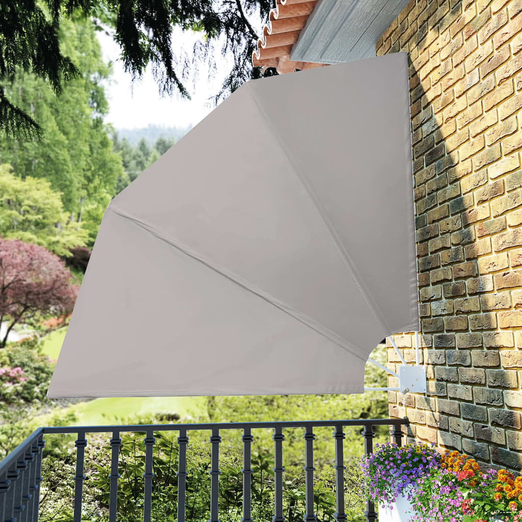 Collapsible Balcony Side Awning Cream 210x210 cm