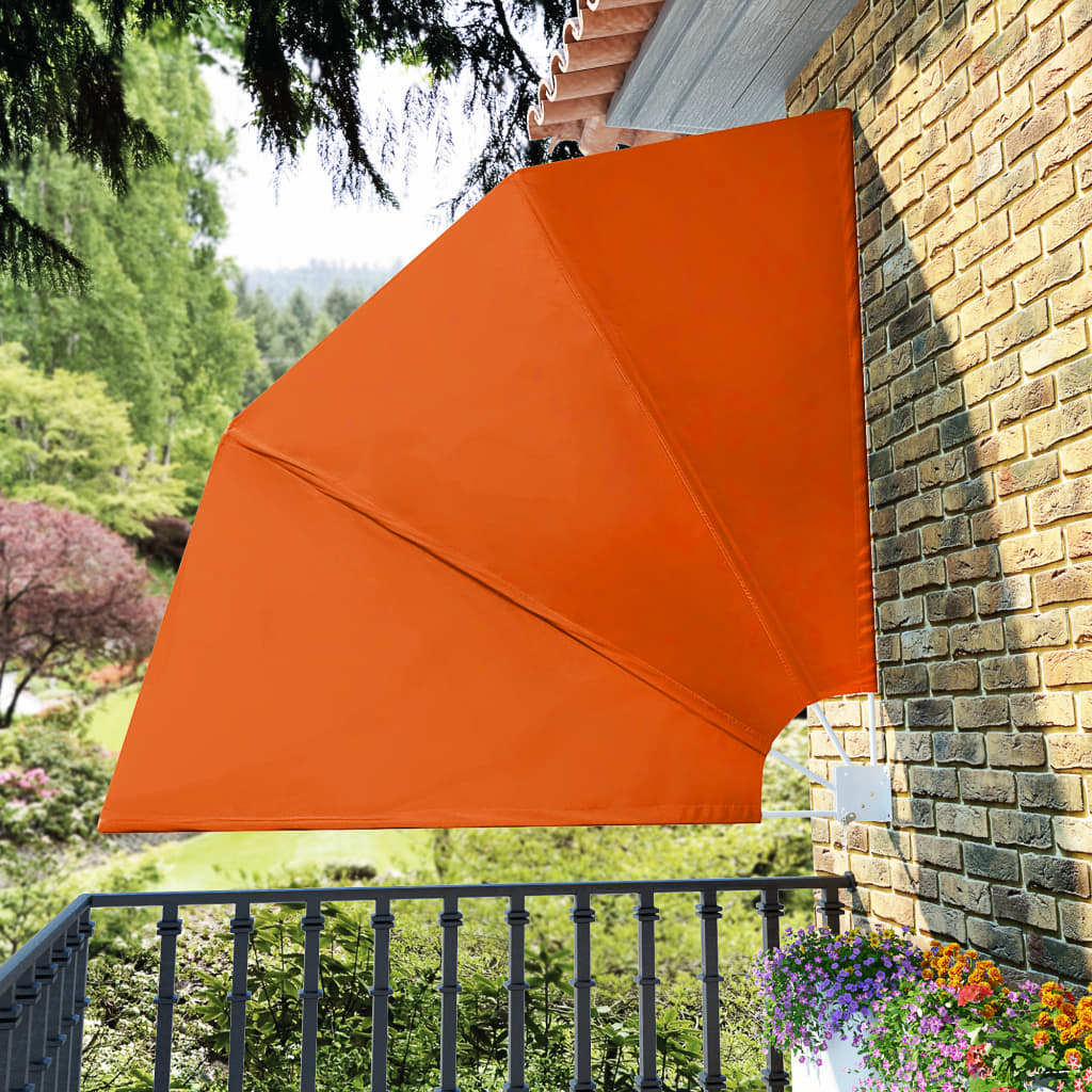 Collapsible Balcony Side Awning Terracotta 210×210 cm 1