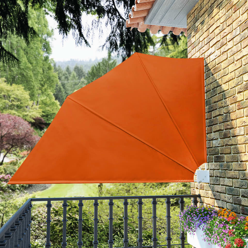 Collapsible Balcony Side Awning Terracotta 160×240 cm 1