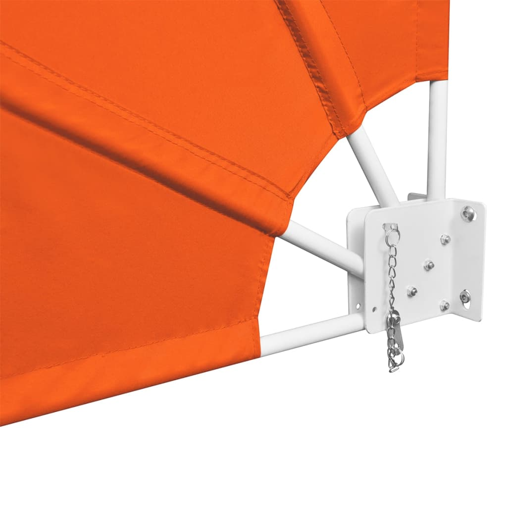 Collapsible Balcony Side Awning Terracotta 140×140 cm 6