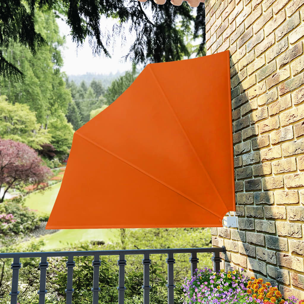 Collapsible Balcony Side Awning Terracotta 140×140 cm 1