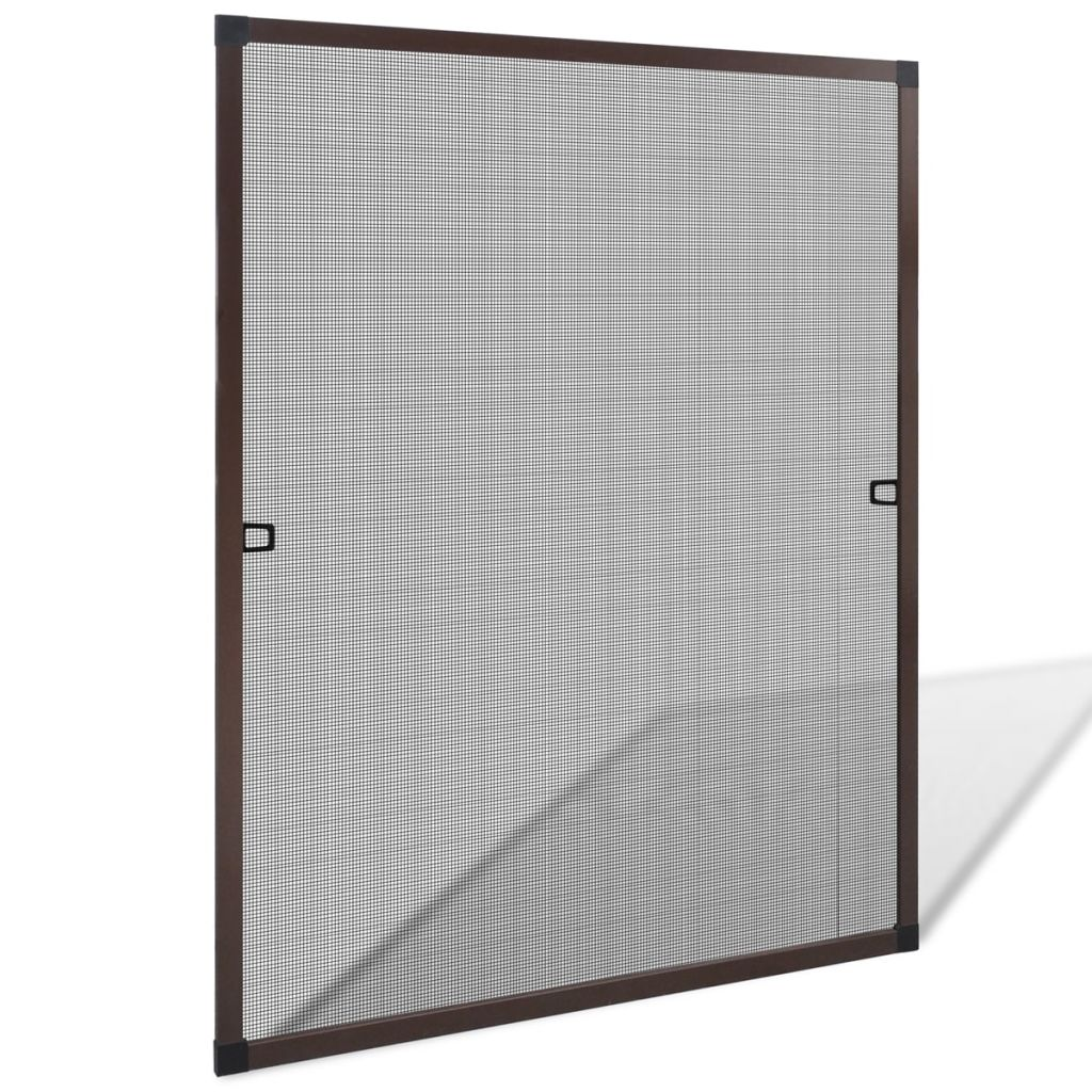 Insect Screen for Windows 80 x 100 cm Brown