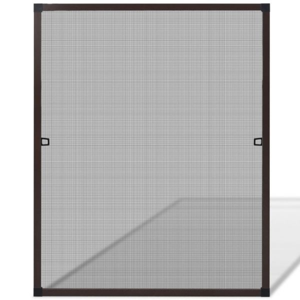Insect Screen for Windows 80 x 100 cm Brown 2