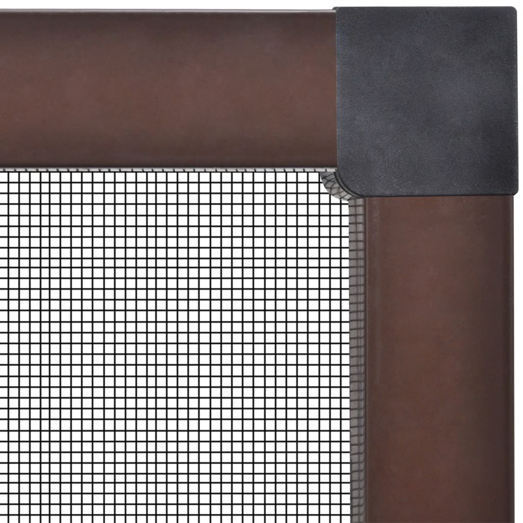 Insect Screen for Windows 80 x 100 cm Brown 3