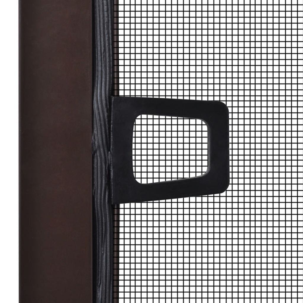 Insect Screen for Windows 80 x 100 cm Brown 4
