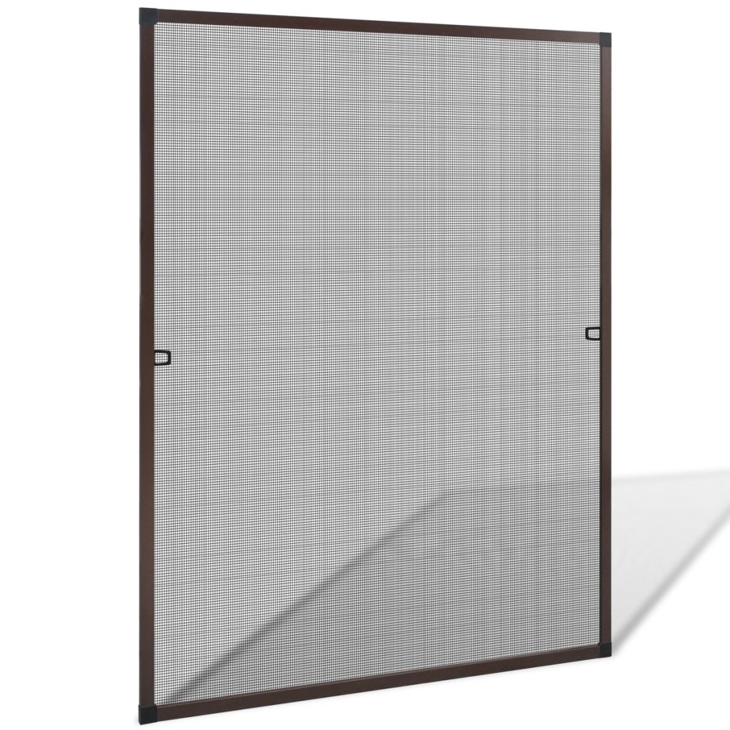 Brown Insect Screen for Windows 100 x 120 cm 1