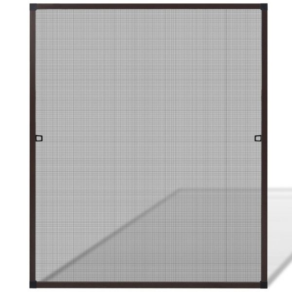 Brown Insect Screen for Windows 100 x 120 cm 2
