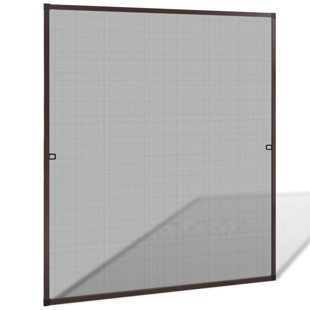 Brown Insect Screen for Windows 130 x 150 cm 1