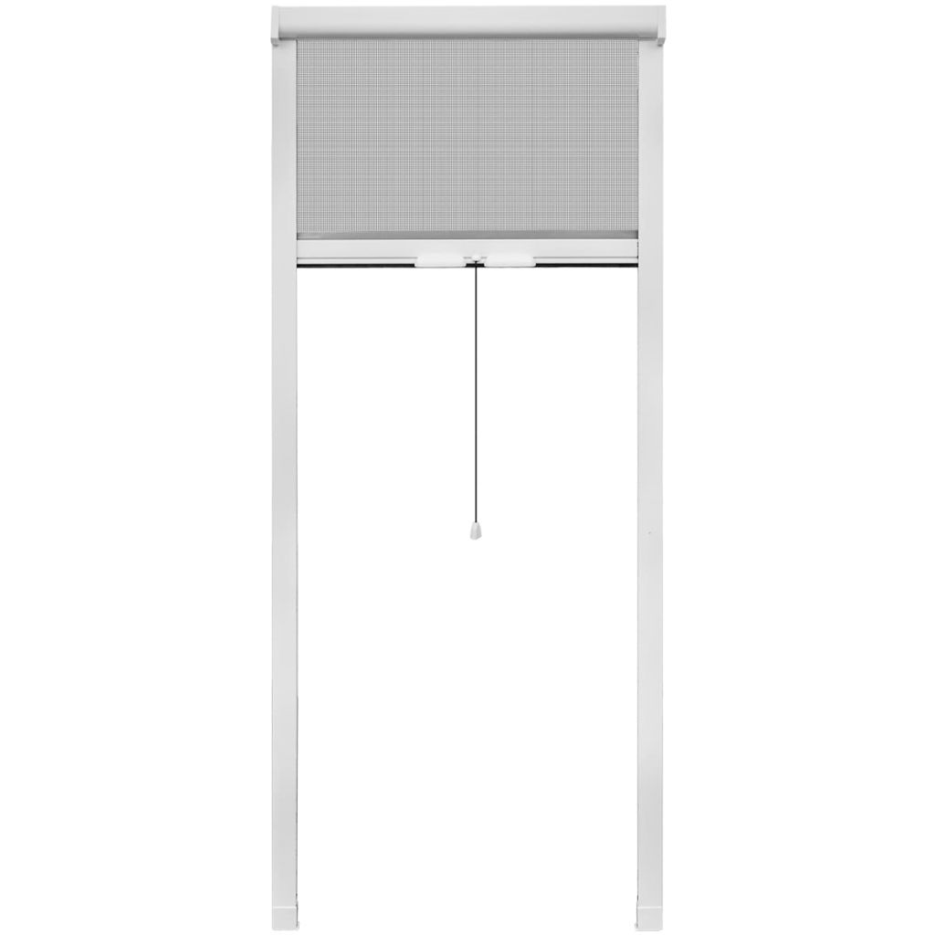 White Roll Down Insect Screen for Windows 80 x 170 cm 2