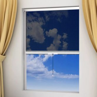 White Roll Down Insect Screen for Windows 80 x 170 cm 1