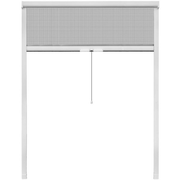 White Roll Down Insect Screen for Windows 140 x 170 cm 2
