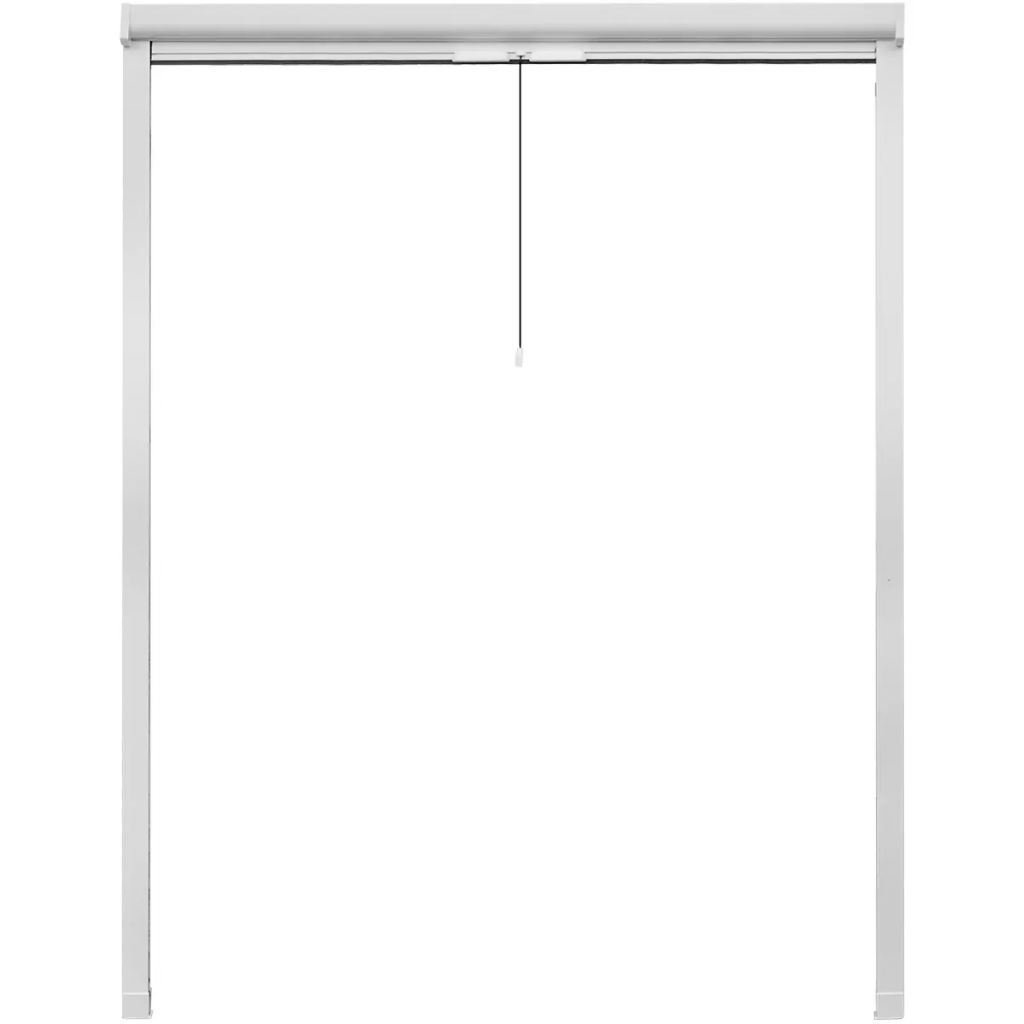 White Roll Down Insect Screen for Windows 140 x 170 cm 3