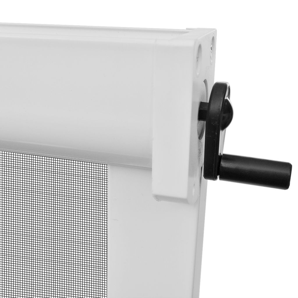 White Roll Down Insect Screen for Windows 140 x 170 cm 5