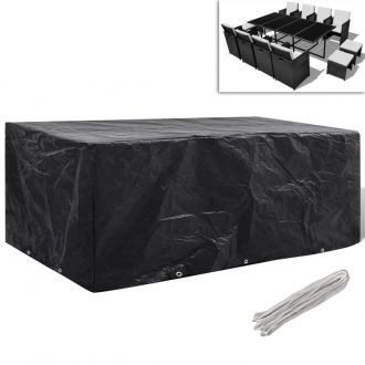 Garden Furniture Cover 8 Person Poly Rattan Set 10 Eyelets 229 x 113cm 1