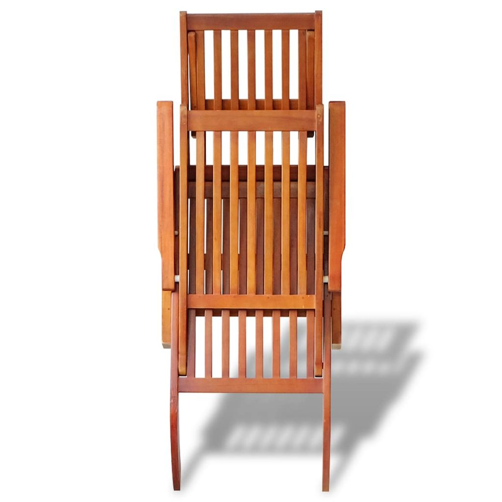 Outdoor Deck Chair with Footrest Solid Acacia Wood 4