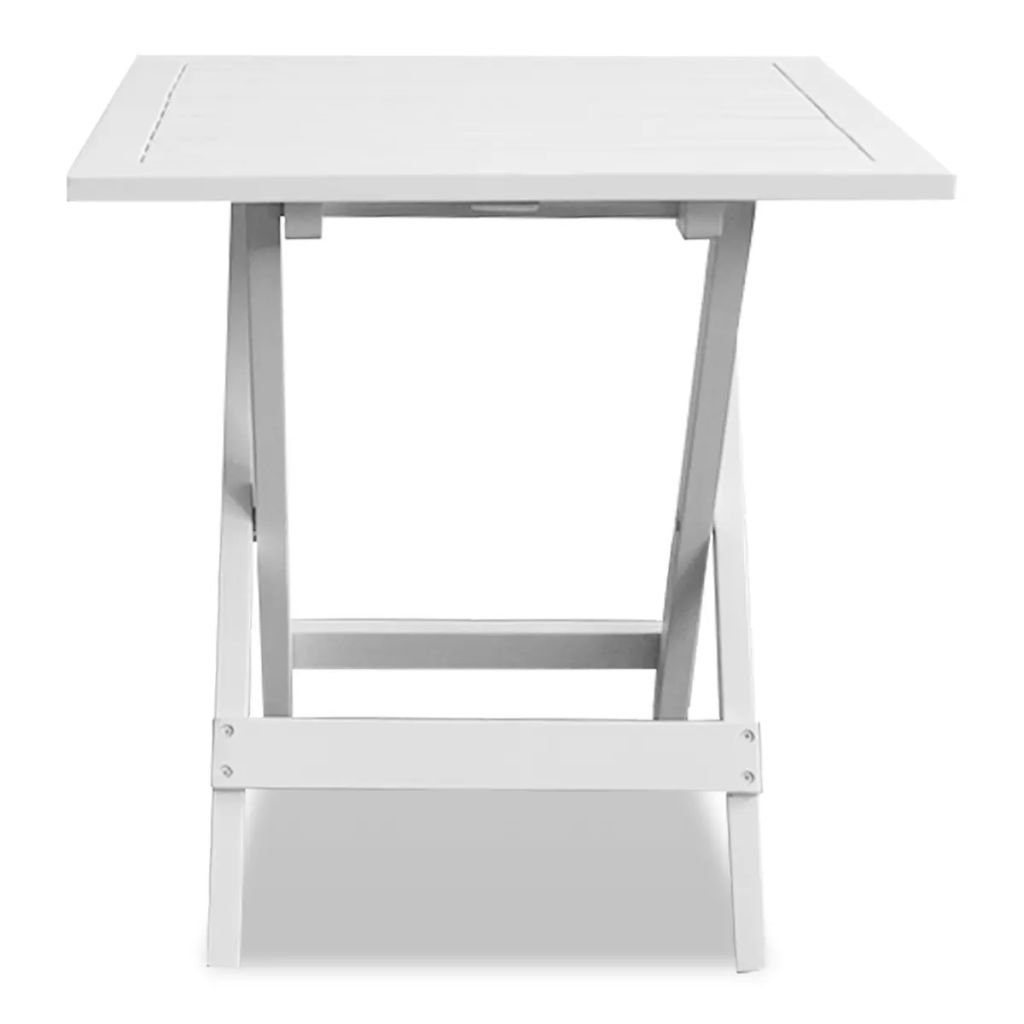 Bistro Table White 46x46x47 cm Solid Acacia Wood 2