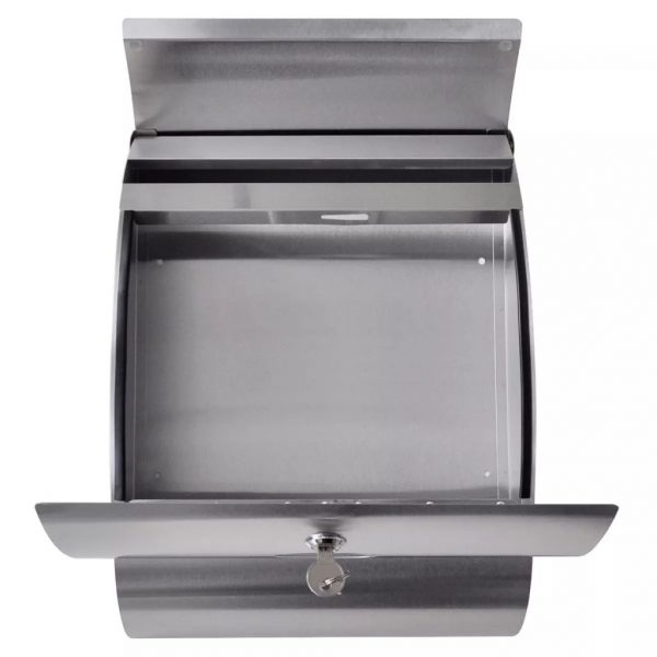 Double Mailbox on Stand Stainless Steel 3