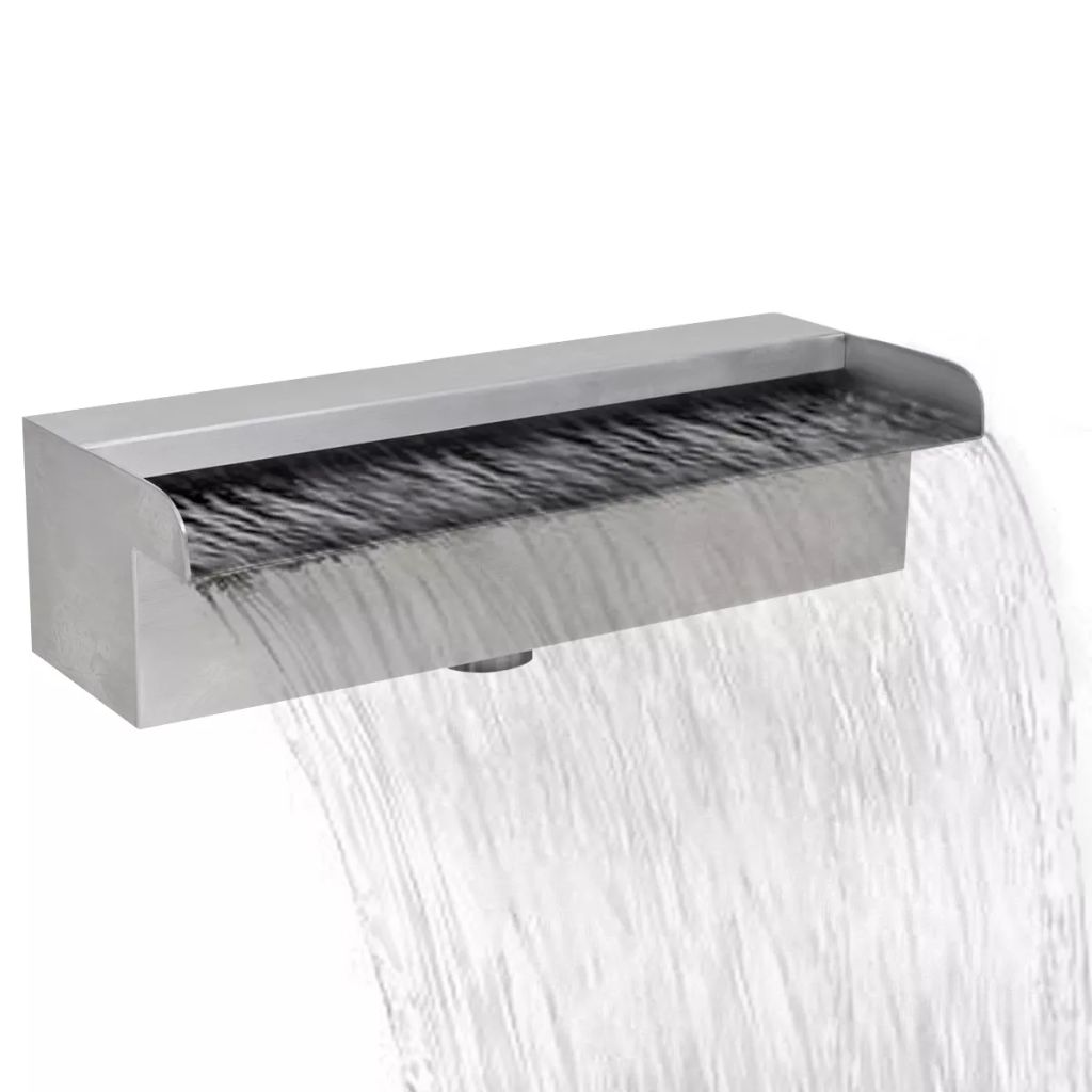 Rectangular Waterfall Pool Fountain Stainless Steel 30 cm 1