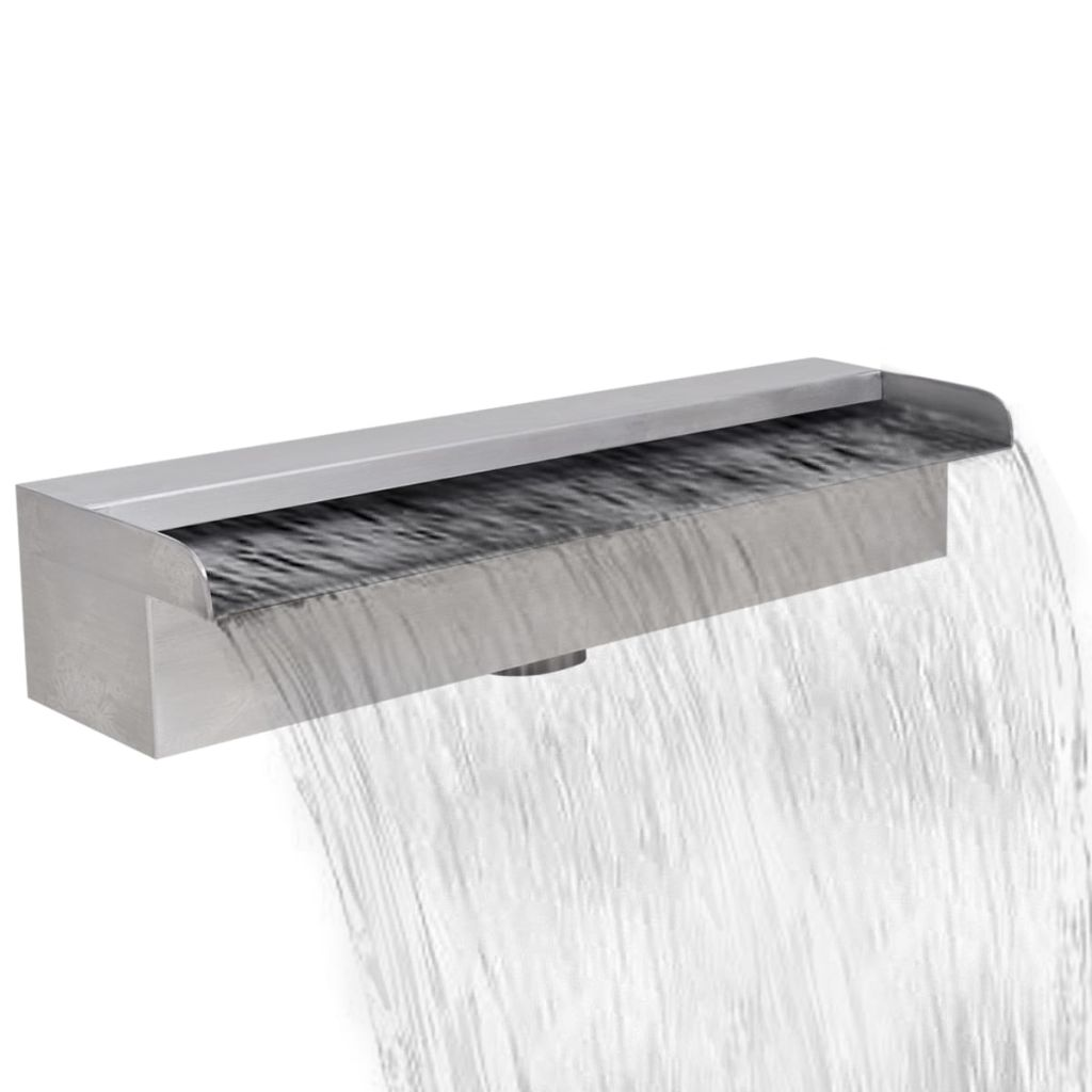 Rectangular Waterfall Pool Fountain Stainless Steel 45 cm 1