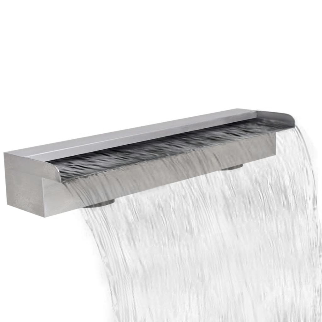 Rectangular Waterfall Pool Fountain Stainless Steel 60 cm 1