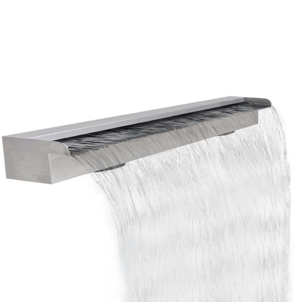 Rectangular Waterfall Pool Fountain Stainless Steel 120 cm 1
