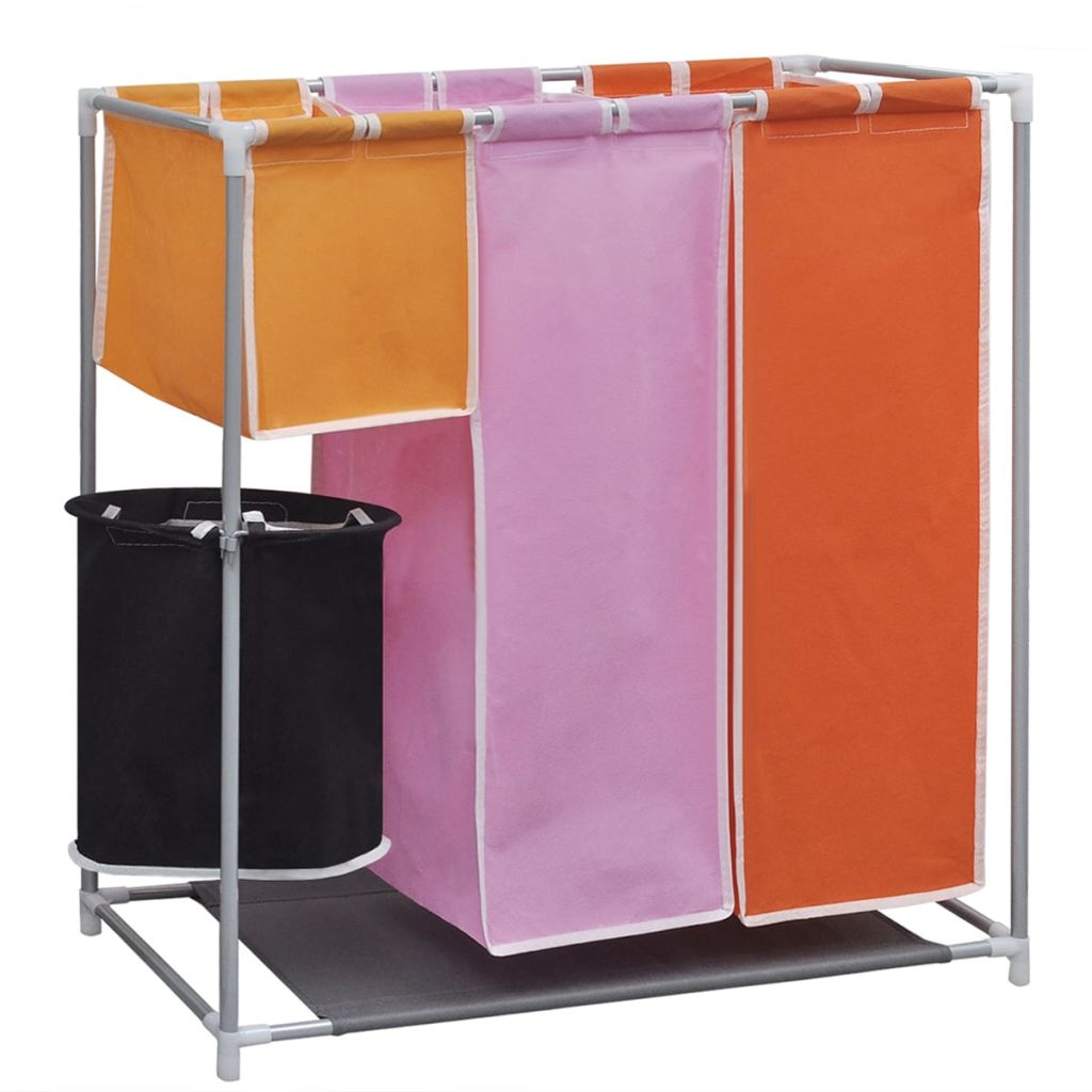 3-Section Laundry Sorter Hamper with a Washing Bin 1