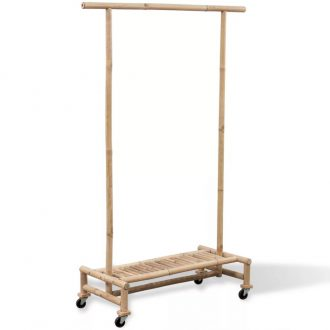 Bamboo Clothes Rack 1