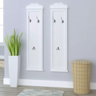 Coat Racks 2 pcs White 1
