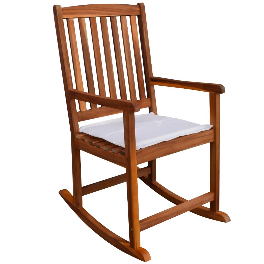 Outdoor Rocking Chair Acacia Wood 1