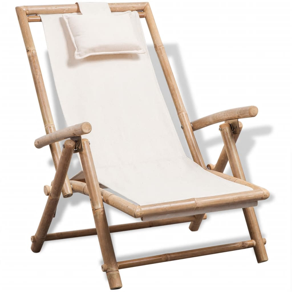 Outdoor Deck Chair Bamboo 1
