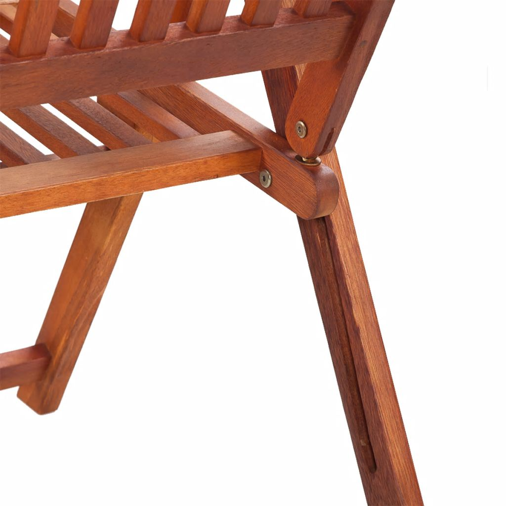 Folding Garden Chairs 2 pcs Solid Acacia Wood Brown 6
