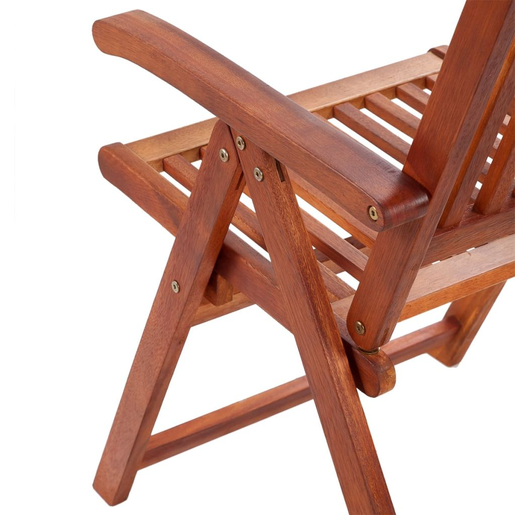 Folding Garden Chairs 2 pcs Solid Acacia Wood Brown 7