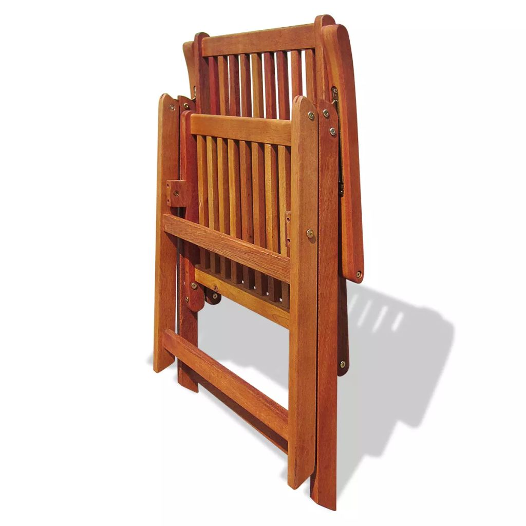 Folding Garden Chairs 2 pcs Solid Acacia Wood Brown 8