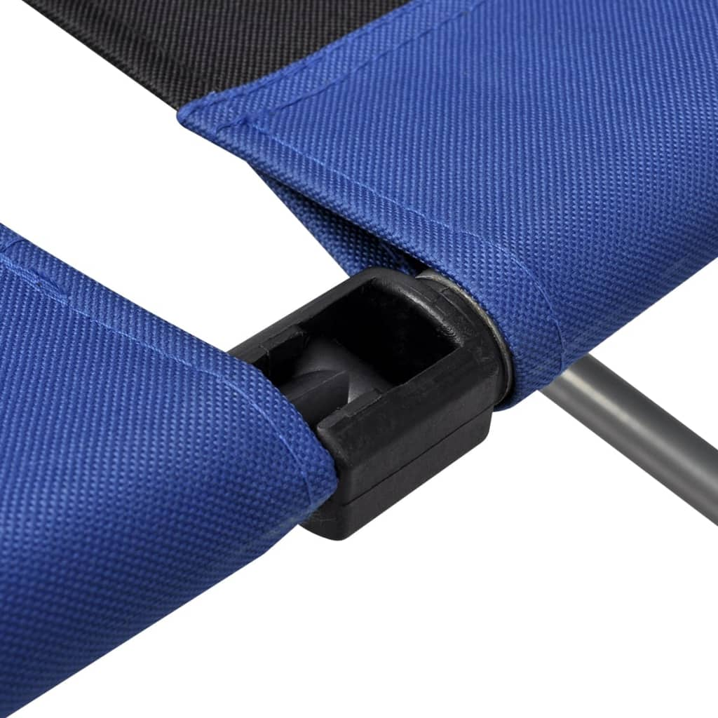 Reclining Camping Chairs 2 pcs Blue and Black 6