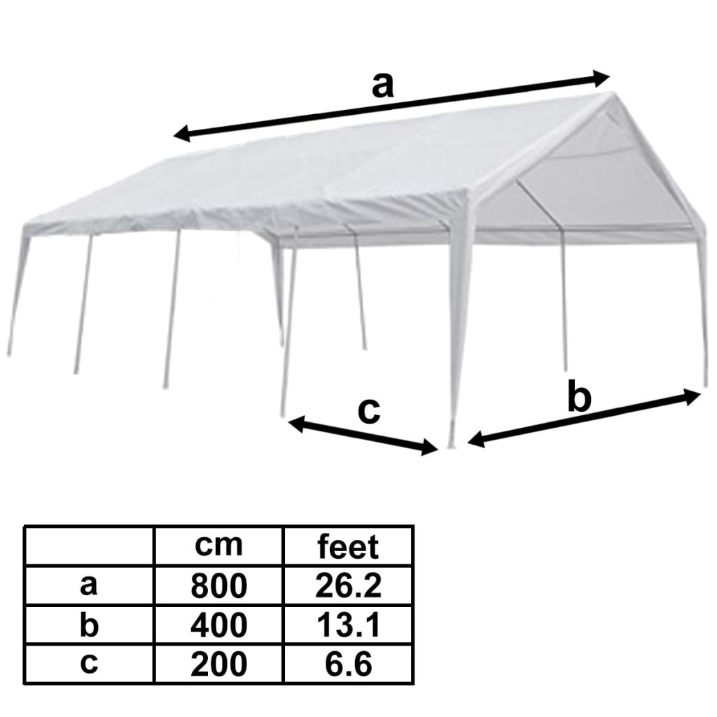 Tent Top and Side Panels for 8×4 m Marquee 4