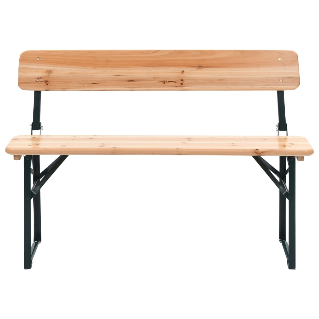 Folding Beer Table with 2 Benches 118 cm Fir Wood 2