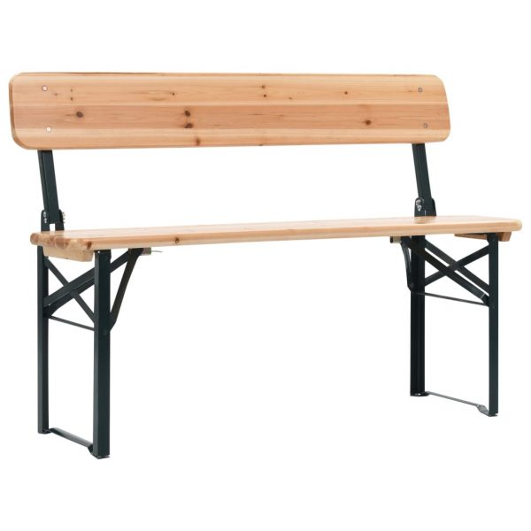 Folding Beer Table with 2 Benches 118 cm Fir Wood 6
