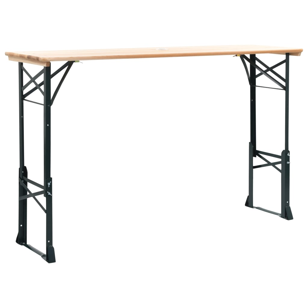 Folding Beer Table 169x50x75/105 cm Pinewood