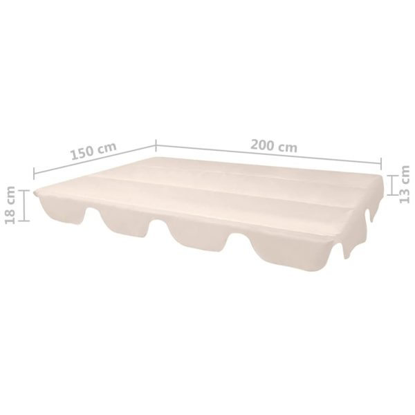 Replacement Canopy for Garden Swing Beige 226×186 cm 4