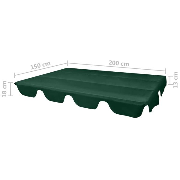 Replacement Canopy for Garden Swing Green 226×186 cm 4