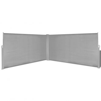 Retractable Side Awning 160×600 cm Grey 1