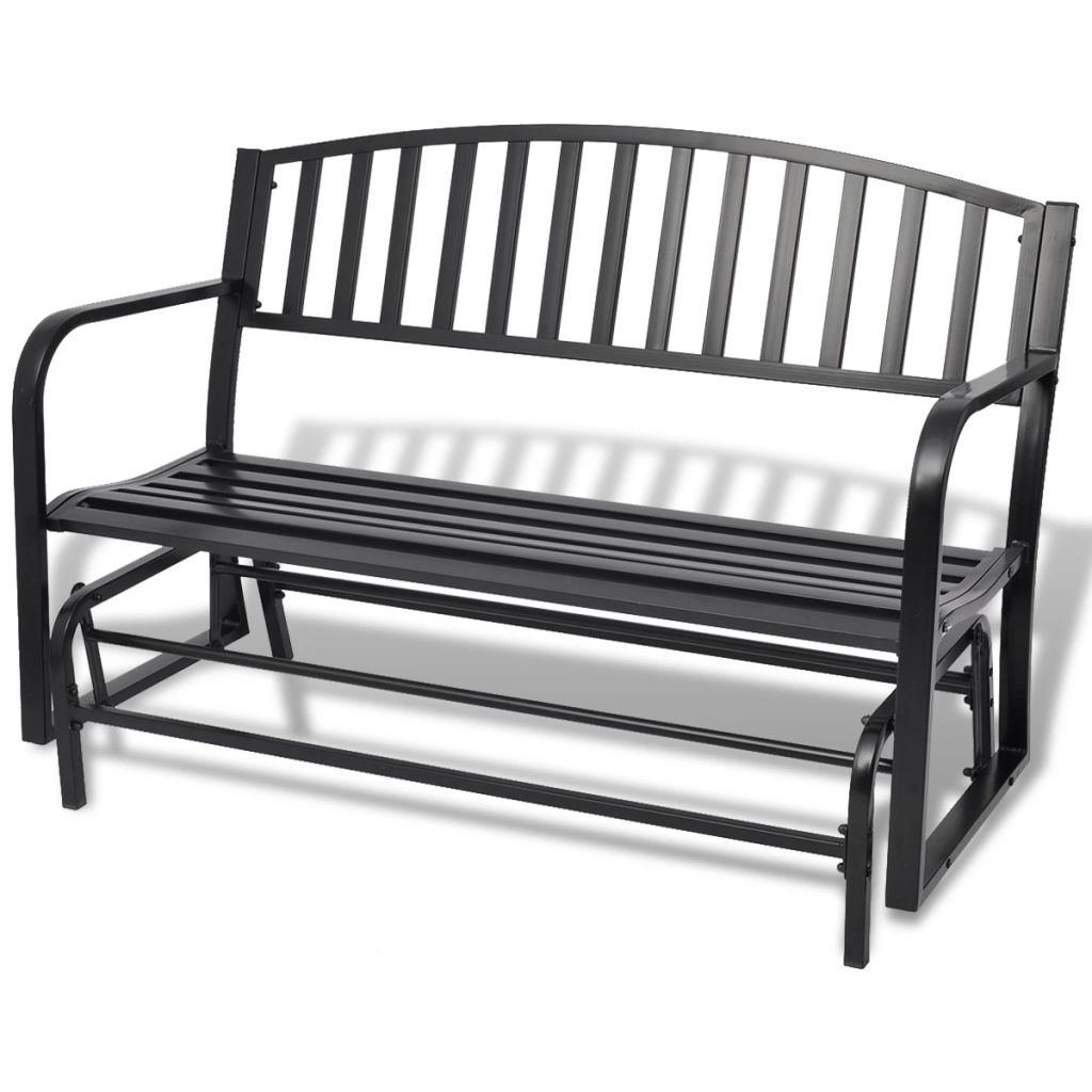 Swing Bench Black Steel